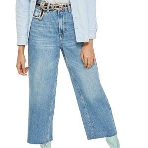 Topshop MOTO High-Waist Wide-Leg Jeans, Size 25W